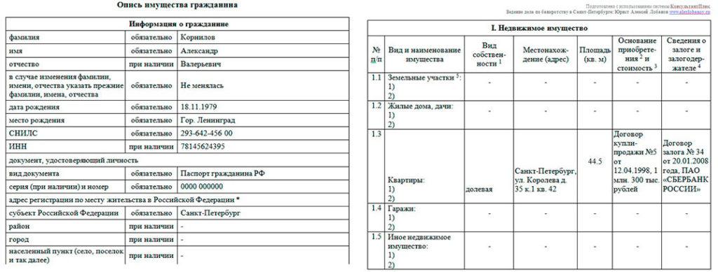 Форма-описи-имущества-при-банкротстве-физлица