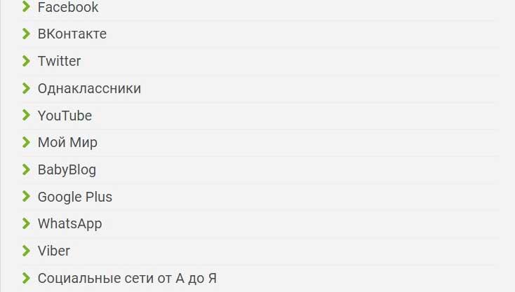 Список-соцсетей