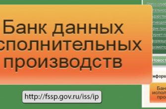 федеральная служба судебных приставов банк данных